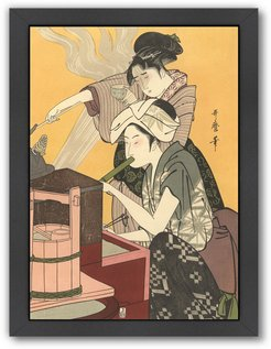 Americanflat Japanese Women Cooking by Found Image Press Framed Artwork