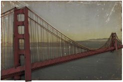 "Artistic Home & Lighting ""Golden Gate Bridge"" Wall Decor"