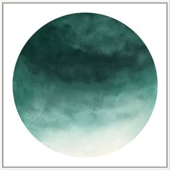 Jonathan Bass Studio Cloudy Teal In Circle