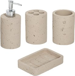 Honey-Can-Do Cement Bath Accessory Set
