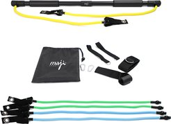 Maji Portable Exercise Bar with Resistance Bands