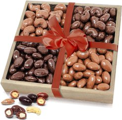 Chocolate Covered Co. Belgian Chocolate Covered Almond & Cashew Tray