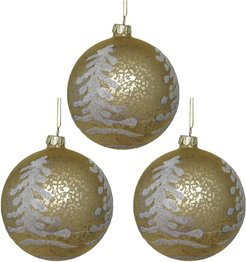 Kurt Adler Set of 3 Glittered Ornaments
