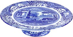 Spode 1075in Blue Italian Footed Cake Plate