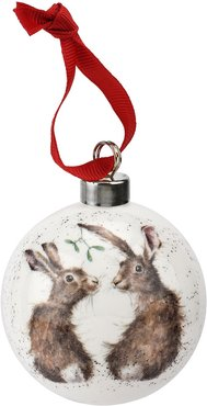 Royal Worcester Wrendale Designs All I want for Christmas Bauble