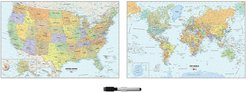 WallPops US and World Map Decal Set