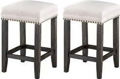 Set of 2 Counter Height Barstools