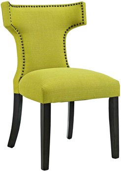 Modway Curve Upholstered Fabric Dining Chair