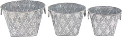 Set of 3 Metal Planters