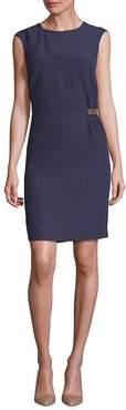 Peserico Tab Detail Sheath Dress