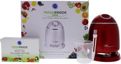 ORA Ruby Red Maskerade Duet Facial Steamer and Organic Mask