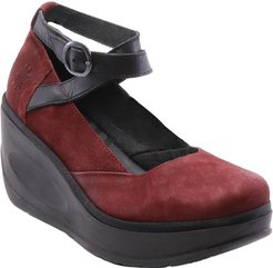 FLY London Jest Leather Wedge Sandal