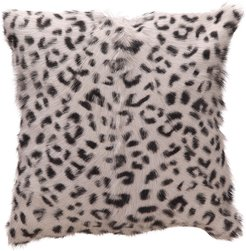 Moe's Home Spotted Goat Fur Pillow