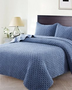 Christopher Knight Home Crushed Stone Quilt Set