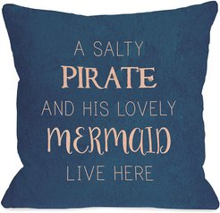 One Bella Casa Salty Pirate Lovely Mermaid Pillow
