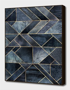 Curioos Abstract Nature - Dark Blue