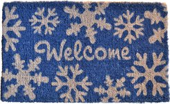 Imports Decor Welcome Snow Flakes Doormat