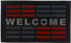 Imports Decor Red Welcome Doormat