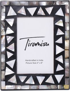 Tiramisu Mother-Of-Pearl Picture Frame-Triangle Pattern
