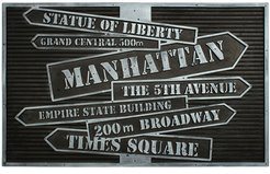 NYC Signs Coir Indoor/Outdoor Doormat