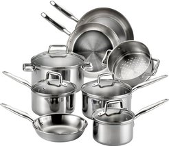 T-FAL Tri-Ply 12pc Cookware Set