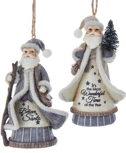 Kurt Adler Set of 2 Santa Ornaments