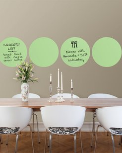 Set of Six Oh Pear Dry Erase Dots Decal