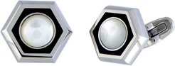 Charriol Stainless Steel Mother-of-Pearl Cufflinks
