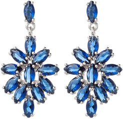Eye Candy Los Angeles The Luxe Collection Rhodium Plated CZ Drop Earrings