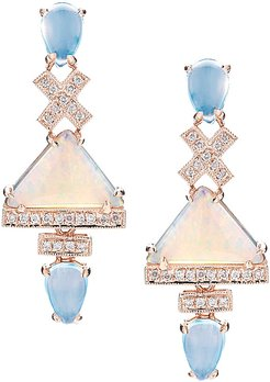 Designs Courtney Lauren 14K Rose Gold 4.10 ct. tw. Diamond & Gemstone Earrings