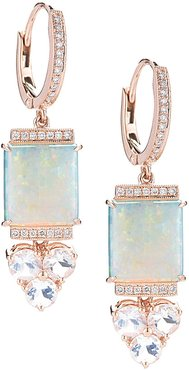 Designs Courtney Lauren 14K Rose Gold Diamond & Gemstone Earrings