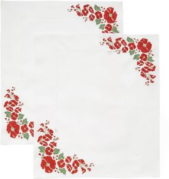 M'O Exclusive Set-of-Two Embroidered Placemat