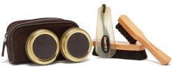 Travel Leather Shoe-care Kit - Mens - Brown