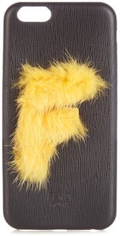 Leather Iphone® 6 Case - Womens - Black Yellow