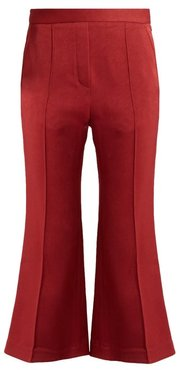 Bulgaria Flared Cady Trousers - Womens - Dark Red