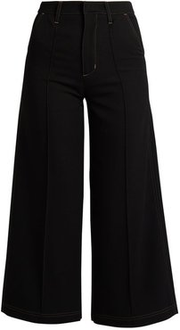 Reed High-rise Wool Culottes - Womens - Black