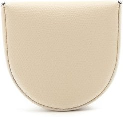 Grained-leather Coin Purse - Mens - White