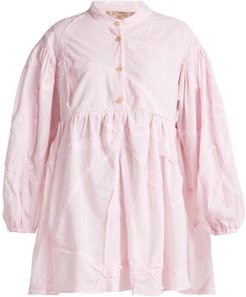 Theresa Patchwork Cotton Shirt - Womens - Light Pink