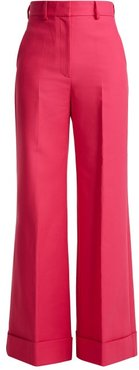 Beatrice Wide Leg Wool Trousers - Womens - Pink