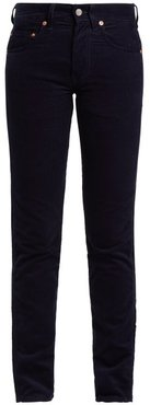 Slim-fit Cotton-corduroy Trousers - Womens - Navy
