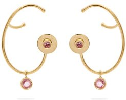 Lily Sapphire & 18kt Gold Earrings - Womens - Pink