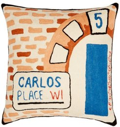 Carlos Place London-embroidered Cotton Cushion - Multi