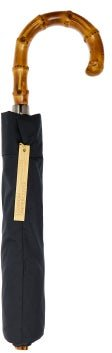 Whangee-handle Telescopic Umbrella - Mens - Navy