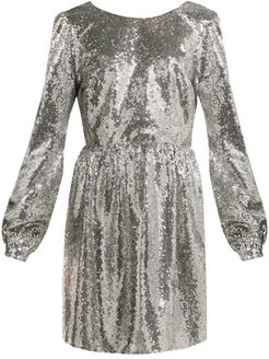 Camille Sequinned Mini Dress - Womens - Silver