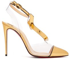 Alta Firma 100 Metallic-leather And Pvc Pumps - Womens - Gold