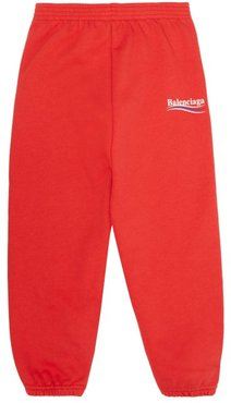 Logo-print Cotton-blend Track Pants - Womens - Red