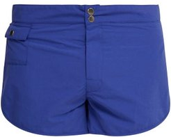 Pipe Edge Swim Shorts - Mens - Blue
