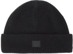 Kansy Face Wool-blend Beanie Hat - Mens - Black