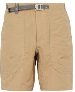 Reflective Belted Technical Shorts - Mens - Beige
