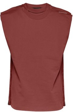Multi-layered Cotton Tank Top - Mens - Burgundy